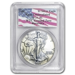 1989 Silver American Eagle - Gem Unc PCGS - World Trade Center